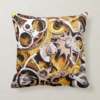 Vintage Steam Punk Gears Steampunk Machine Throw Pillow