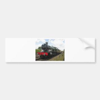 Vintage steam railway train bumper sticker