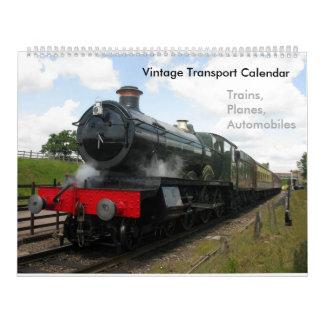 Vintage steam railway train calendar
