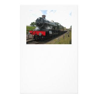 Vintage steam railway train stationery