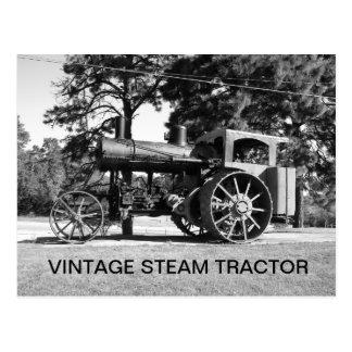 Vintage Steam Tractor. Blk. & Wht. Photo Postcards