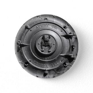 Vintage Steam Tractor Front. Button