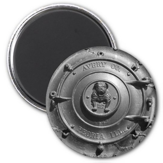 Vintage Steam Tractor Front. Magnet