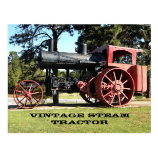 Vintage Steam Tractor - In Color. Post Card