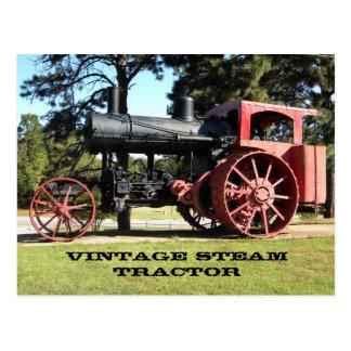 Vintage Steam Tractor - In Color. Postcard
