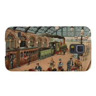 Vintage Steam train and station scene Galaxy S5 Cases