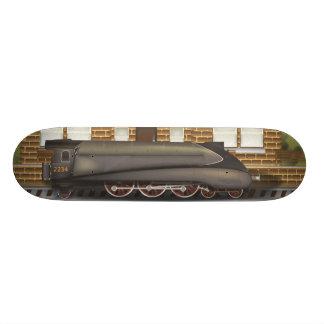 Vintage Steam Train in Station Skateboard Deck