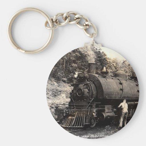 Vintage-Steam Train Keychain