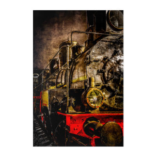 Vintage Steam Train - Old Timer Acrylic Print