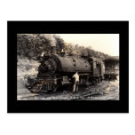 Vintage-Steam Train Postcard