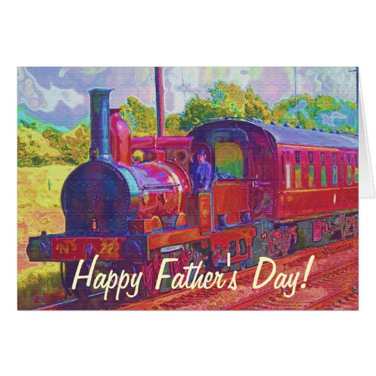 Vintage Steam Train Rail-lovers Fathers Day Card