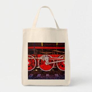 Vintage Steam Train Wheels Tote Bag