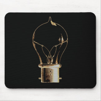 Vintage Steampunk Art Lighted Light bulb Mousepad