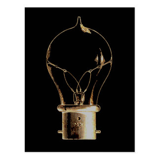 Vintage Steampunk Art Lighted Light bulb Post Cards