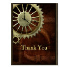 Vintage Steampunk Birthday Postcard