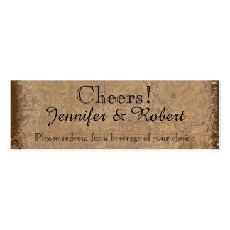 Vintage Steampunk Bride Wedding Drink Tickets Business Cards