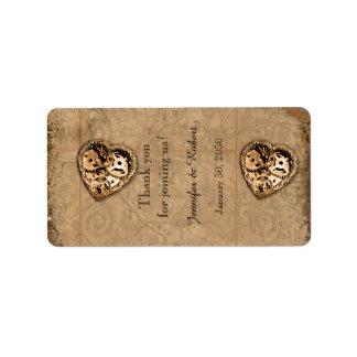 Vintage Steampunk Bride Wedding Lip Balm Label