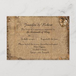 Vintage Steampunk Bride Wedding Response Card
