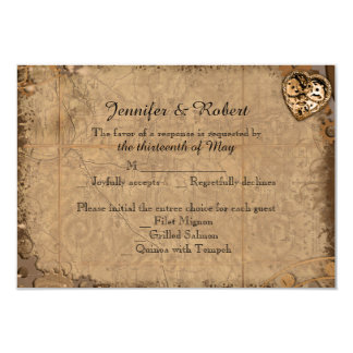 Vintage Steampunk Bride Wedding Response Card