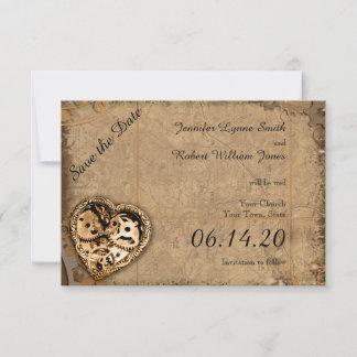 Vintage Steampunk Bride Wedding Save the Date