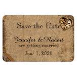 Vintage Steampunk Bride Wedding Save the Date Rectangular Photo Magnet