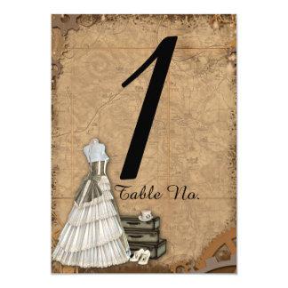 Vintage Steampunk Bride Wedding Table Number