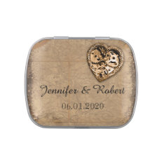 Vintage Steampunk Bride Wedding Tins Jelly Belly Tin at Zazzle