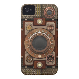 Vintage Steampunk Camera #1D (De Luxe!) iPhone 4 Case-Mate Case