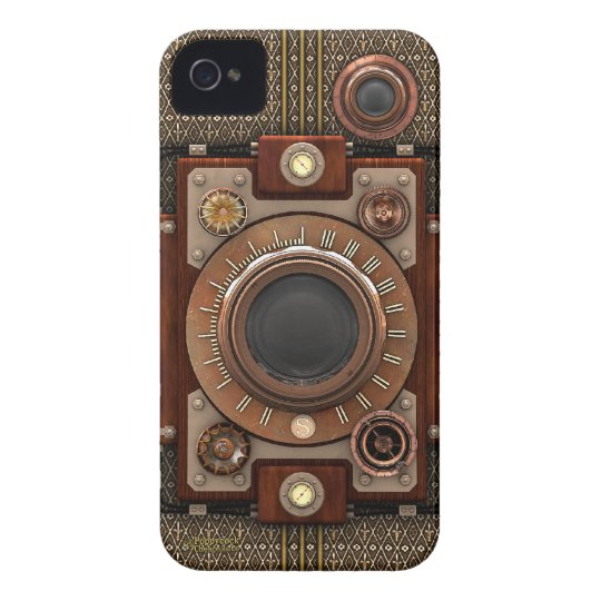 Vintage Steampunk Camera #1D (De Luxe!) iPhone 4 Case-Mate Case