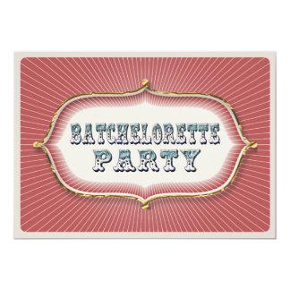 vintage steampunk circus batchelorette invitation