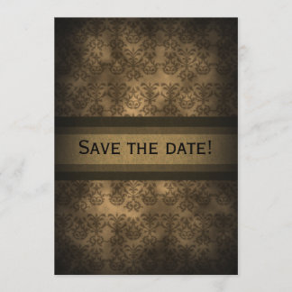 Vintage Steampunk Damask Anniversary  Invitation