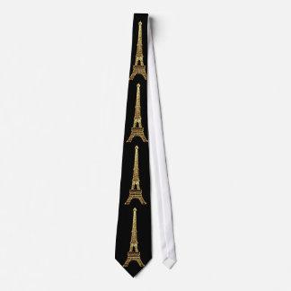 Vintage Steampunk French Chic Paris Eiffel Tower Neck Tie