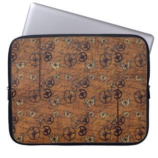 Vintage Steampunk Gears Wallpaper Laptop Sleeve
