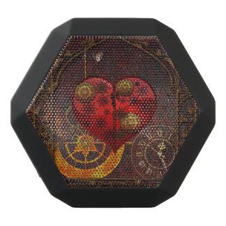 Vintage Steampunk Hearts Wallpaper Black Bluetooth Speaker