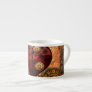 Vintage Steampunk Hearts Wallpaper Espresso Cup