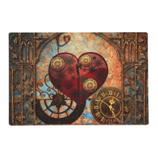 Vintage Steampunk Hearts Wallpaper Placemat