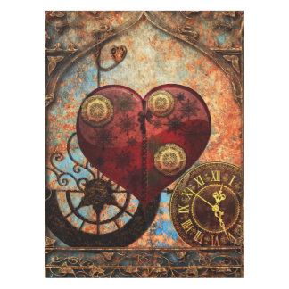 Vintage Steampunk Hearts Wallpaper Tablecloth