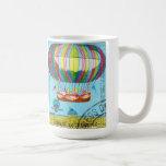 Vintage Steampunk Hot Air Balloon Coffee Mug