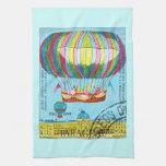 Vintage Steampunk Hot Air Balloon Hand Towel