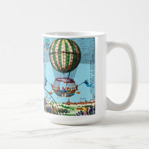 Vintage Steampunk Hot Air Balloon Mug
