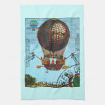 Vintage Steampunk Hot Air Balloon Towel