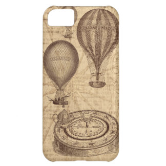 Vintage steampunk hot air balloons iPhone 5C case