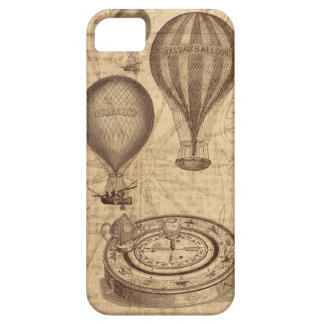 Vintage steampunk hot air balloons iPhone SE/5/5s case
