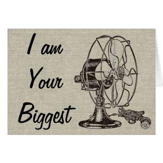 Vintage Steampunk I Am Your Biggest Fan Card