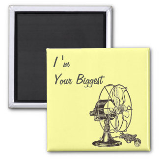 Vintage Steampunk I Am Your Biggest Fan 2 Inch Square Magnet