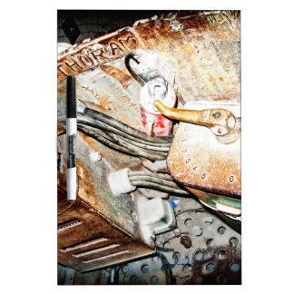 Vintage Steampunk Industrial Background Dry-Erase Board