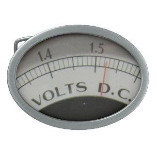 Vintage Steampunk Lab Voltmeter Belt Buckle