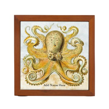Beach Themed Vintage Steampunk Nautical Octopus Sea Creature Pencil/Pen Holder