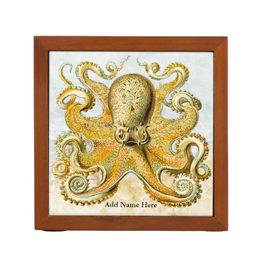Vintage Steampunk Nautical Octopus Sea Creature Pencil/Pen Holder