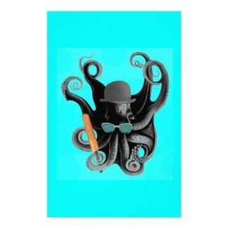 vintage steampunk octopus cricketer stationery